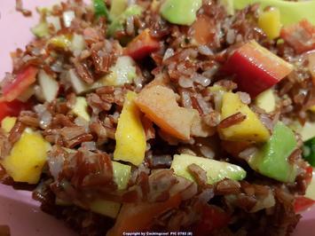 Rezept: Biggi`s Salate = Avocado roter Reissalat