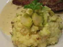 Kartoffeln: Rosenkohl-Kartoffelpüree auf Petersilienwurzelschaum - Rezept - Bild Nr. 7566