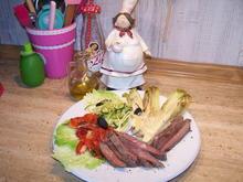 Buntes Gemüse mit einem Rinder Steak und einem Fantasie Sößchen - Rezept - Bild Nr. 7566