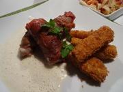 Kalbs-Involtini, Parmesan-Soße und Polenta-Sticks - Rezept - Bild Nr. 7572