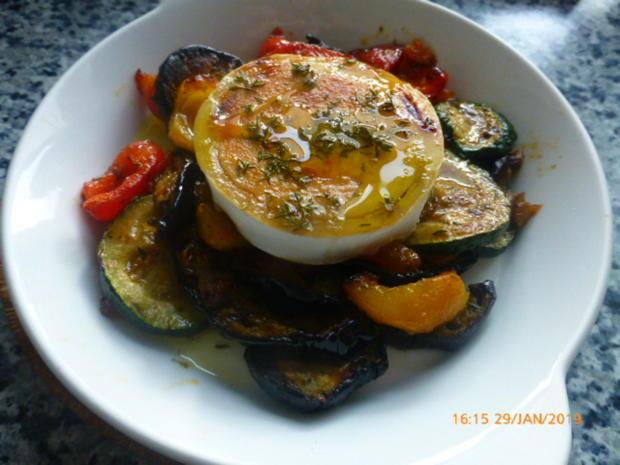 Warmer Salat von Ofengemüse mit Ziegenkäse - Rezept - Bild Nr. 7587