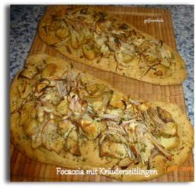 Focaccia mit Kräuterseitlingen - Rezept - Bild Nr. 7590
