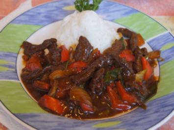 Rindfleisch mit Austernsauce und Jasmin Reis - Rezept - Bild Nr. 2