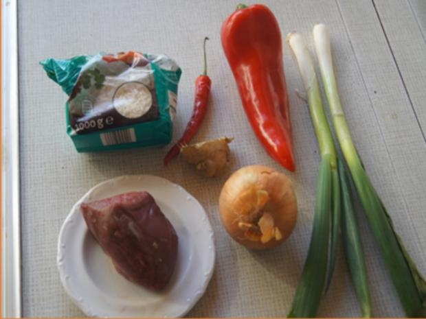 Rindfleisch mit Austernsauce und Jasmin Reis - Rezept - Bild Nr. 3