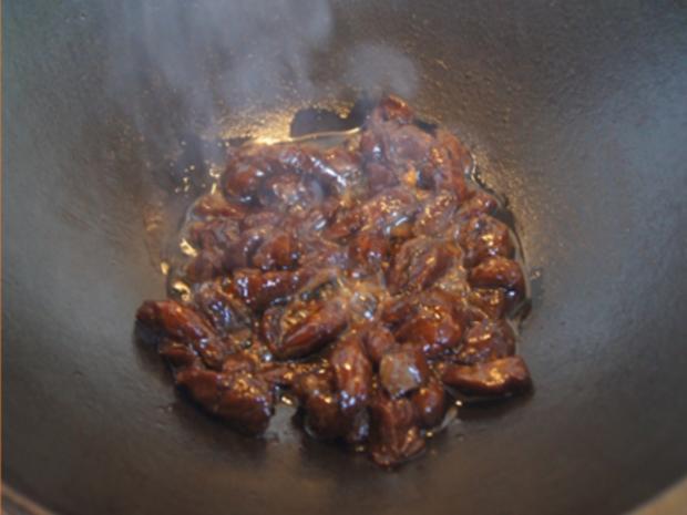 Rindfleisch mit Austernsauce und Jasmin Reis - Rezept - Bild Nr. 8