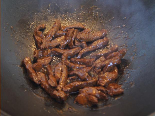 Rindfleisch mit Austernsauce und Jasmin Reis - Rezept - Bild Nr. 10