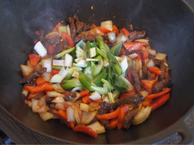 Rindfleisch mit Austernsauce und Jasmin Reis - Rezept - Bild Nr. 15
