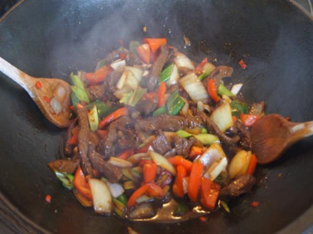 Rindfleisch mit Austernsauce und Jasmin Reis - Rezept - Bild Nr. 16