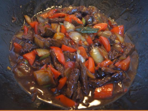 Rindfleisch mit Austernsauce und Jasmin Reis - Rezept - Bild Nr. 17