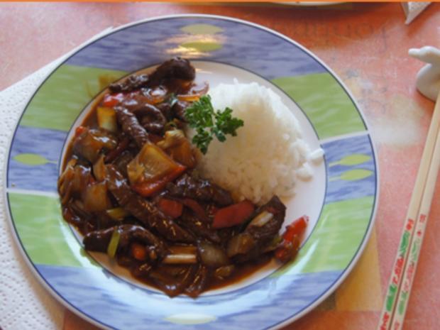 Rindfleisch mit Austernsauce und Jasmin Reis - Rezept - Bild Nr. 18
