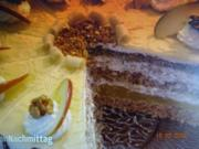 Walnuss- Marzipan-Torte - Rezept - Bild Nr. 7616