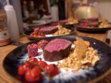 Green Island: Irisches Weiderind mit Fregola Sarda, Artischoke, Zitrone und Tomate - Rezept - Bild Nr. 7617