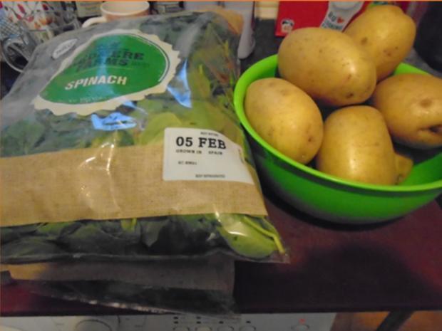 Baby-Spinat mit Spiegelei und Kartoffeln - Rezept - Bild Nr. 3