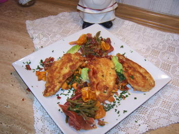 Rezept: -Kochbar ,,Challenge 1.0(Februar 2019)= Schnitzel v. Hähnchen+gebr. Süßkartoffel+Bohnen