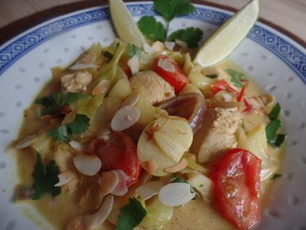 Spitzkohl-Hähnchen-Curry - Rezept - Bild Nr. 7617