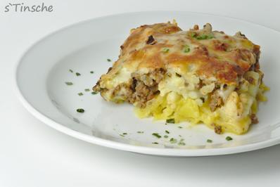 Rezept: Blumenkohl-Kartoffel-Hack-Auflauf