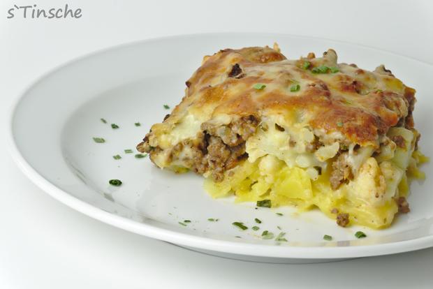 Blumenkohl-Kartoffel-Hack-Auflauf - Rezept - Bild Nr. 7627