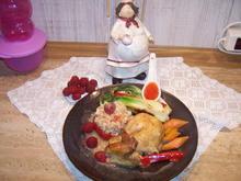 Mais- Poularde +Gemüse-Allerlei und Sößchen - Rezept - Bild Nr. 7648