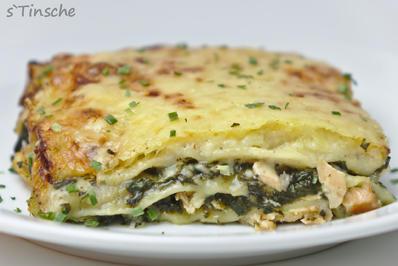 Rezept: Lachs-Spinat-Lasagne