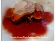 Karreebraten vom Duroc-Schwein mit Rote-Bete-Sauce - Rezept - Bild Nr. 7688