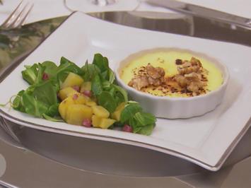 Frischkäse-Crème-Brûlée mit karamellisierten Walnüssen - Rezept - Bild Nr. 7688