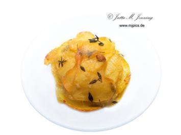 Kartoffelhäufchen aus dem Backofen - Rezept - Bild Nr. 7691