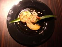 Gebratene Ananas mit Riesengarnelen und süßer Chilisoße - Rezept