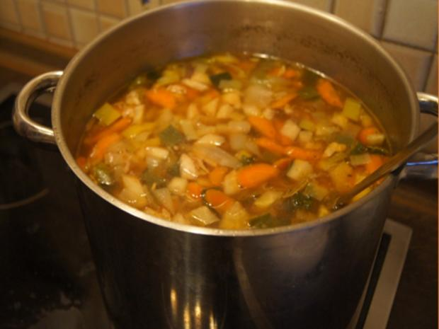 Hühner-Gemüse-Suppe XXL - Rezept - Bild Nr. 13