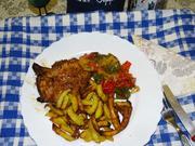 Weißbier-Koteletts mit Brat-Paprikasalat - Rezept - Bild Nr. 7709