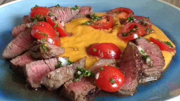 Mediterranes Steak mit Bohnenpüree - Rezept - Bild Nr. 7709