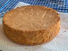 Kleiner Biskuit Tortenboden mit Butter - Rezept - Bild Nr. 7711