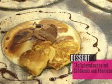 Apflpfannkouchn mit Schokoeis und Fanillesoß - Rezept - Bild Nr. 3