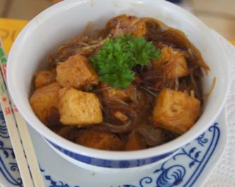 Herzhafter Tofu mit Glasnudeln - Rezept - Bild Nr. 3