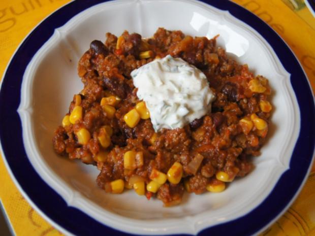 Chili Con Carne Mit Pikanten Dip Rezept Kochbarde