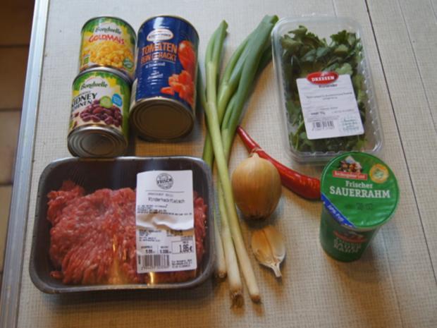 Chili con Carne mit pikanten Dip - Rezept - Bild Nr. 3