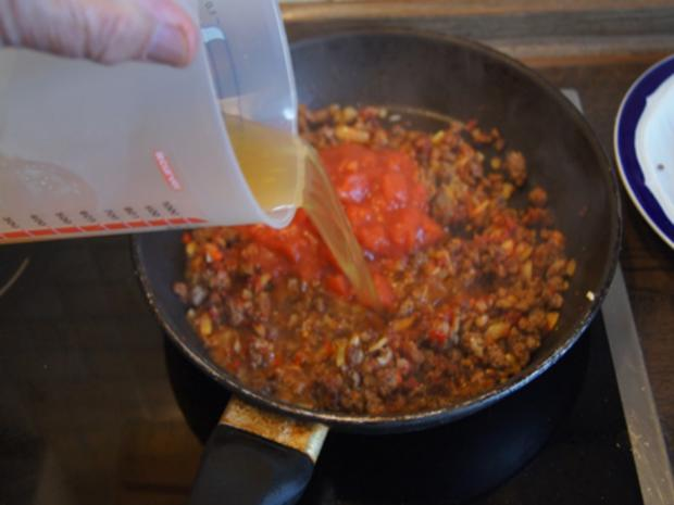 Chili con Carne mit pikanten Dip - Rezept - Bild Nr. 9