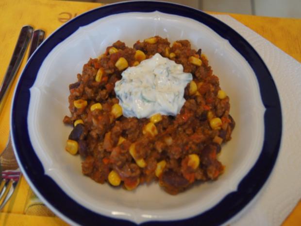 Chili con Carne mit pikanten Dip - Rezept - Bild Nr. 18
