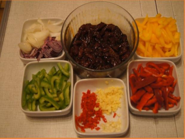 Rindfleisch-Paprika-Wok mit gelben Basmatireis - Rezept - Bild Nr. 6
