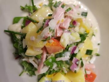 Biggi`s Salate = Kartoffelsalat (kleiner Restesalat) - Rezept - Bild Nr. 7730