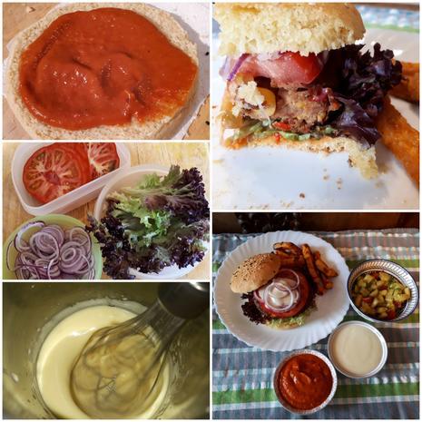 Tex-Mex Bean-Burger and Sweet Potato Fries - Rezept - Bild Nr. 7742