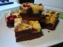 Cheesecake-Brownies mit Frucht - Rezept - Bild Nr. 7758