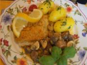 Schlemmerfilet mit Rahm-Champignons und Petersilien-Kartoffeln - Rezept - Bild Nr. 7749