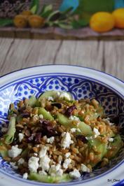 Gurken-Grünkern-Salat mit Feta - Rezept - Bild Nr. 2
