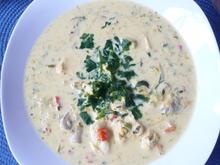 Hähnchen - Curry - Lauch - Suppe - Rezept - Bild Nr. 7756