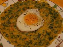 Pfannkuchen mit Spinat und Spiegelei - Rezept - Bild Nr. 2