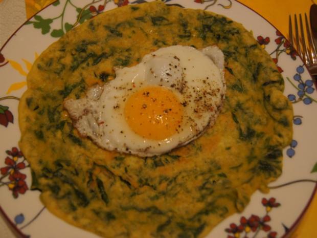 Pfannkuchen mit Spinat und Spiegelei - Rezept - Bild Nr. 7
