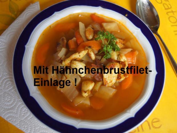 Weißkohl-Gemüse-Suppe mit Garnelen - Rezept - Bild Nr. 12