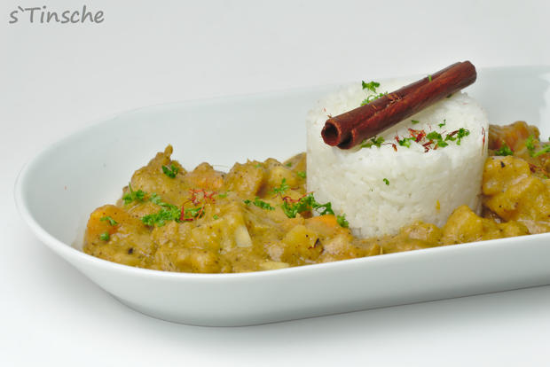 Maniok-Süßkartoffel-Kochbananencurry - Rezept - Bild Nr. 7757