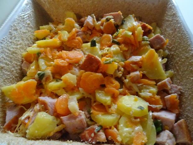 Kartoffel-Möhren-Auflauf mit Kasseler - Rezept - Bild Nr. 7758