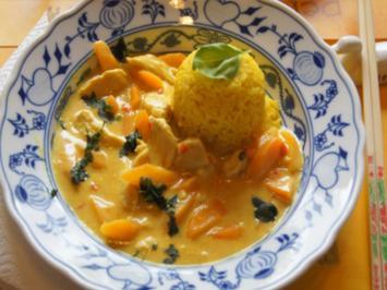 Hähnchenbrustfilet-Curry mit gelben Basmatireis - Rezept - Bild Nr. 2